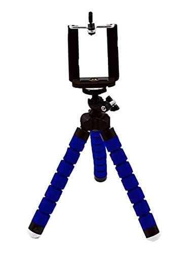 YJHL Qiqibh Teléfono móvil Soporte Flexible Octopus trípode Soporte Teléfono Móvil Cámara Selfie Soporte Monopod Soporte Control Remoto Teléfono Móvil Soporte (Color : Blue)