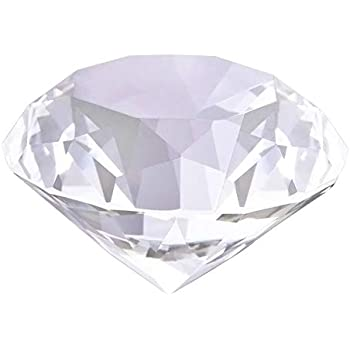 "Glass Diamond Paperweight 3.1"" Crystal Decoration Sparkling Centerpiece Luxurious Gift 80MM (Clear)"