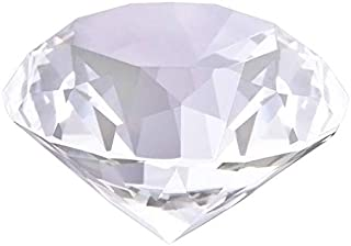 """Glass Diamond Paperweight 3.1"""" Crystal Decoration Sparkling Centerpiece Luxurious Gift 80MM (Clear)"""