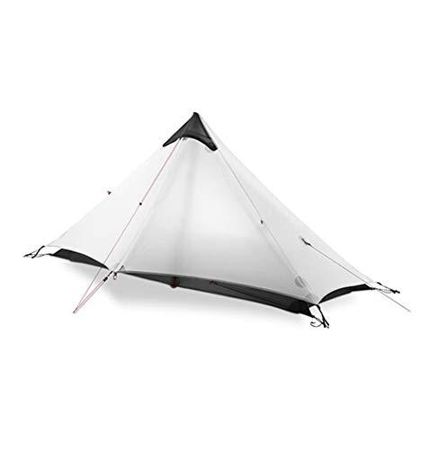 Styleart Tent 2 Person Outdoor Ultralight Camping Tent 3 Season Professional 15d Rodless Tent 4 Season 220 * 105 * 125cm 1P gray 3 season