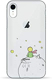 Pump iPhone XR Case - Little Prince Clear Design - Plastic with Silicone Rim, Transparent