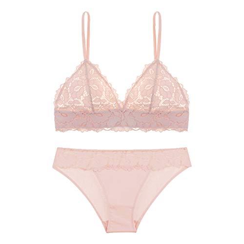 [フランデランジェリー] [fran de lingerie] Cole コール ブラレットセット ピンク XL
