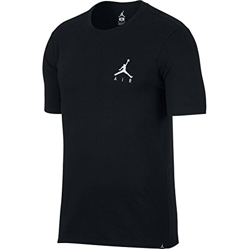 Nike M Jsw Jmpmn Air Embrd, T-Shirt Unisex – Adulto, Nero/Bianco, L