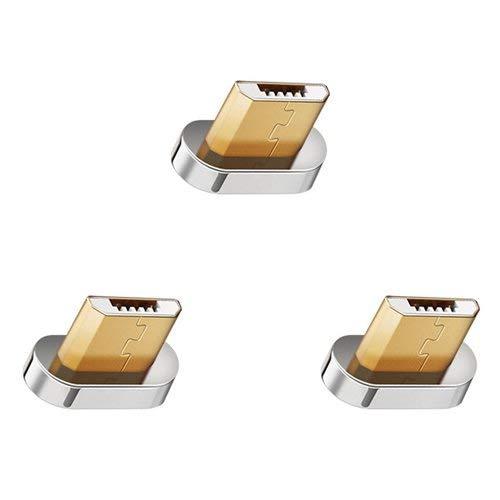 [i!®] 3X Micro USB Adapter für Premium Nylon Magnet USB Ladekabel Datenkabel [3X Micro USB Stecker]