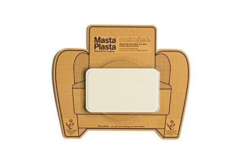 Preisvergleich Produktbild MastaPlasta Leder-Reparaturflicken,  selbstklebend,  Elfenbein Wählen Sie Größe / Design. Erste Hilfe für Sofas,  Autositze,  Handtaschen,  Jacken usw