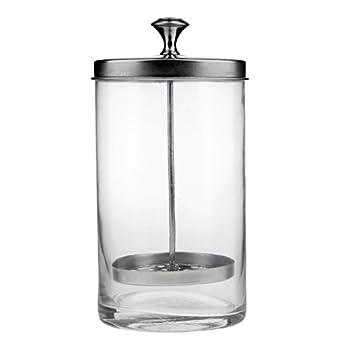 Baoblaze Clear Portable Barber Salon Manicurist Tool Sanitizing Disinfecting Glass Jar Durable - S
