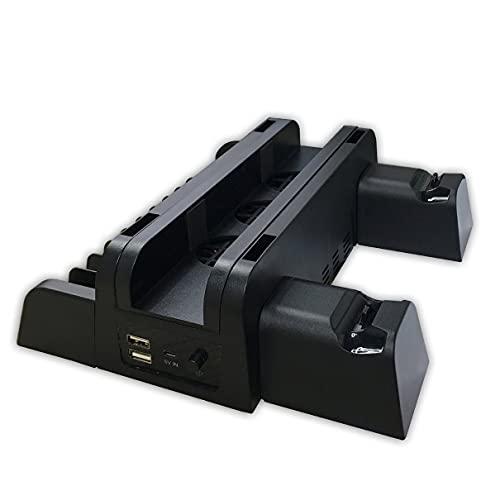 Kaczmarek Acessórios PS4 PS4 / PS4 Slim / PS4 Pro Console vertical Ventilador de resfriamento Controlador Carregador Game Disk Storage Stand Tower