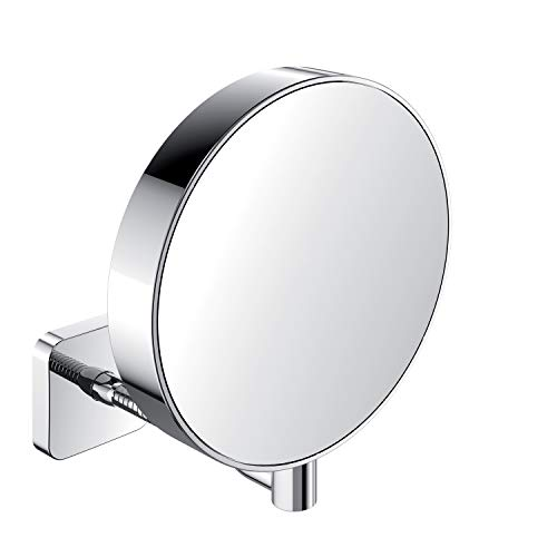 Emco 109500114 Rasier- und Kosmetikspiegel chrom unbeleuchtet, One Size