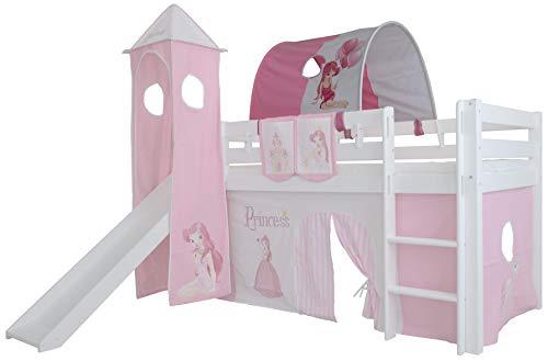 Mobi Furniture Tunnel Princess für Hochbett Höhle Etagenbett Spielbett Kinderbett Bettdach