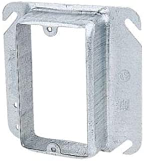 4 in. Square Steel Box Mud Ring - Silver