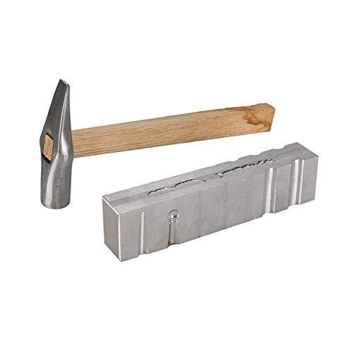 Conjuntos de herramientas de joyería con ranura de brazalete de canal de bricolaje de material de hierro de acero, para joyería de oro, plata y cobre