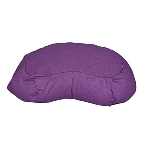 ヨガの瞑想クッション、ムーン型の瞑想の枕、畳布団コットンクロスそばヨガの瞑想のためのゆったりのヨガフィットネスの余暇,紫色