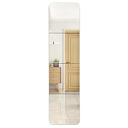 MEMETARO 貼る鏡 全身鏡 割れない 姿見 4枚セット ガラス DIY鏡 枠無し 飛散防止 スタンド ミラー お風呂 洗面台 玄関 ダンス鏡 自由組合鏡 取り付け簡単 30*30cm