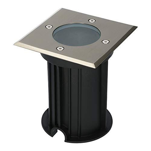 HOFTRONIC - Ramsay Foco LED empotrable para suelo de acero inoxidable, cuadrado, no incluye fuente de luz GU10, IP67, resistente al agua, 3 años de garantía, para exteriores, terrazas y exteriores