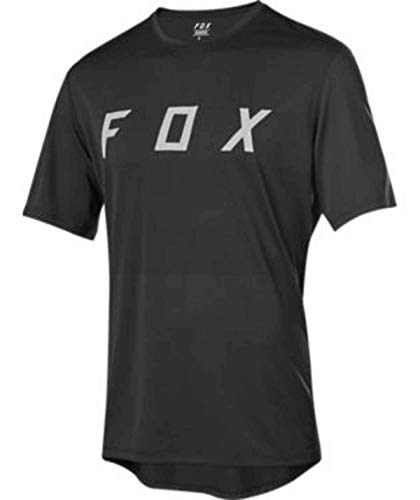 Fox Racing Herren Ranger Dri-Release Jersey Radsport-Trikots, Fuchs Schwarz/Grau, Small