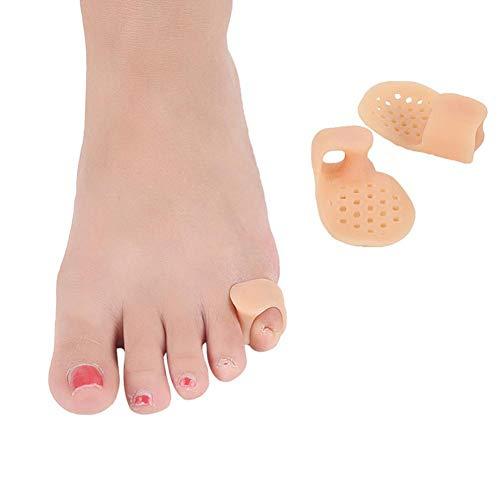 1 par de protectores para pulgares del dedo gordo del pie Protector de juanete de silicona Cuidado de los pies Separadores de dedos ortopédicos Pedicura Alisadores correctores de dedos de los pies