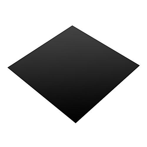 ExcLent 200X200X0.6Mm Lámina De Caucho De Silicona Negra Almohadilla Autoadhesiva Alfombra De Placa De Alta Temperatura