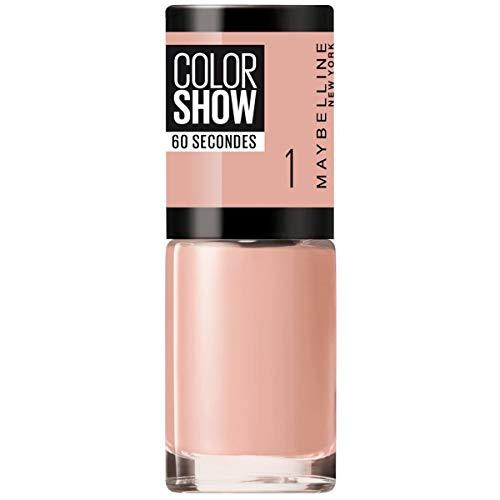 Maybelline New York Color Show Smalto Asciugatura Rapida, 01 Go Bare