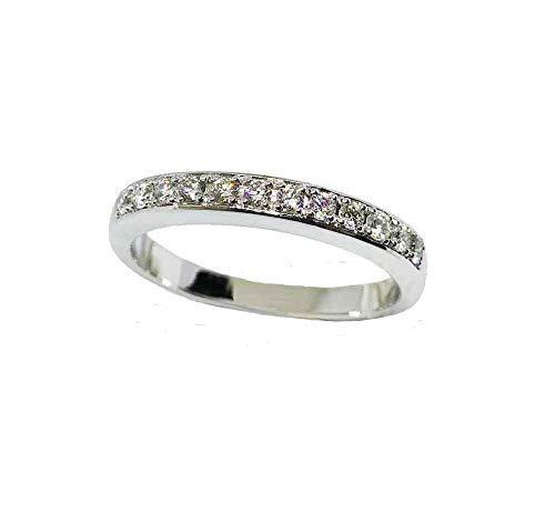 Cadimor Alianza Oro Blanco con Diamantes Talla Brillante