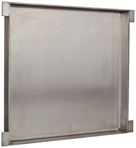 Enders® EDELSTAHL-GRILLPFANNE 7887 für BROOKLYN NEXT 2, SAN DIEGO 2, Seitenkocher, Plancha, Grillwanne, Gasgrill BBQ, Grill-Zubehör, silber