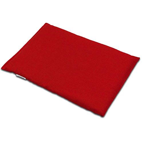 Rapskissen 30 x 20 cm, rot - Als Wärmekissen & Kältekissen - Körnerkissen für Mikrowelle und Backofen, Rapssamenkissen, 30x20cm