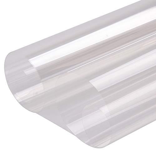 HOHO 152 cm x 300 cm 2 mil transparente ventana de seguridad rollo de película de vidrio transparente de protección anti rotura resistente a manchas pegatinas