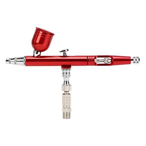 Pistola de pulverización neumática Aerógrafo Pen Pintura Aerógrafo Arma Reasonable Arte para publicidad Camisetas Dibujo Pintura (rojo)
