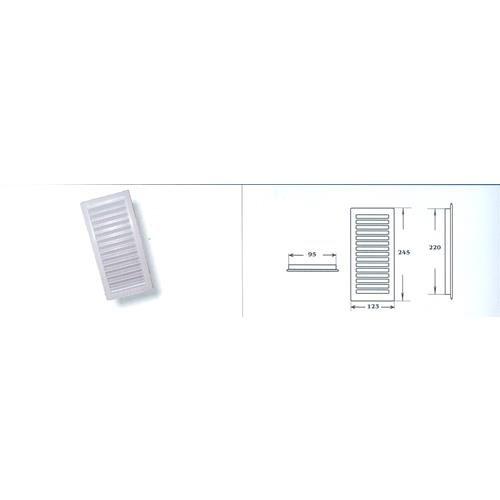 balaguer - Rejilla Empotrar Blanca 22X10 R168