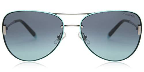 Tiffany & Co TF3066 - 60019S Sunglasses SILVER w/ AZURE GRADIENT BLUE Lens...