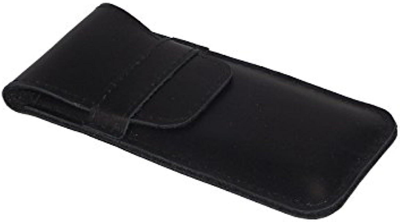 Lederetui für 1- 2 Stifte in schwarzem Leder ( schwarzes Filzfutter) B00UENGL92 | Große Klassifizierung