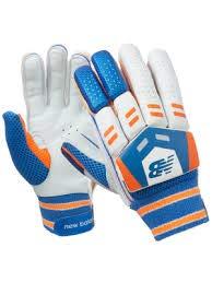 CW DC 380 Cricket-Handschuhe, für Rechtshänder, ideal für Herren, Weiß/Blau/Orange
