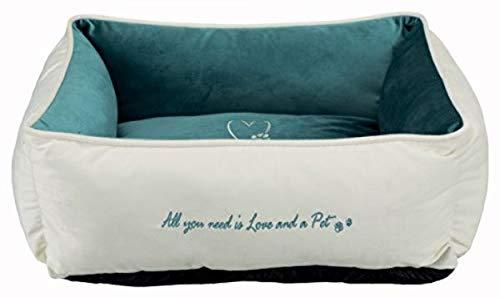 Trixie 38236 Bett Pet's Home, 80 × 60 cm, creme/petrol