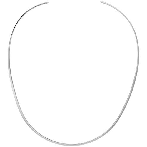 Sterling Silver Wire Choker Collar Necklace Handmade 3/32 inch