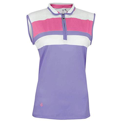 Island Green Iglts1815 - Polo de Golf para Mujer, Mujer, Polo de Golf para Mujer, IGLTS1815_LAV_16, Lavanda esmerilada/Jolt Rosa, 44
