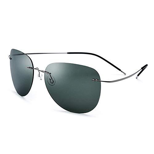 Dfghbn Gafas de Sol Gafas de Sol polarizadas de los Hombres Gafas de Sol al Aire Libre Masculinas Gafas UV400 para Pescar Deportes al Aire Libre Conducción Gafas de Sol clásicas (Color : Black Green)