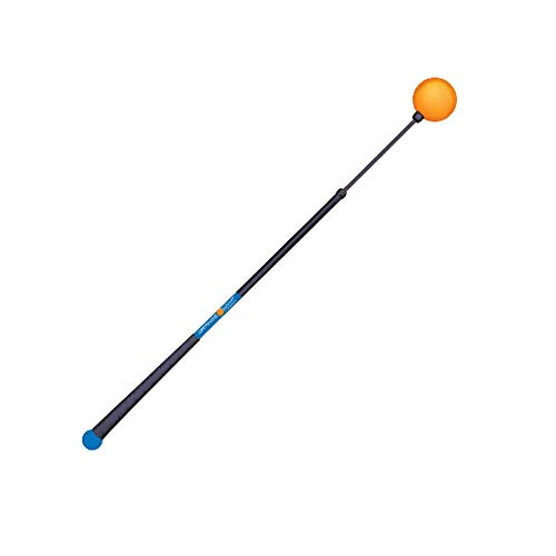 """Orange Whip Compact Golf Swing Trainer Aid for Improved Rhythm, Flexibility, Balance, Tempo, and Strength – 35.5"""""""