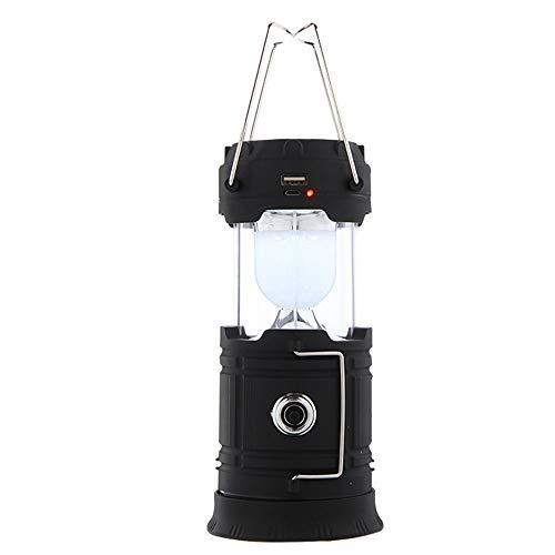 Generic002 Multifuncional LED Camping Luz Solar USB RECARGOBLE 3 AA Power COB más Brillante con Base magnética, Carga para Android, Luz de Emergencia Plegable a Prueba de Agua