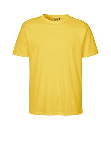 Green Cat Regular T-Shirt, 100% Bio-Baumwolle. Fairtrade, Oeko-Tex und Ecolabel Zertifiziert, Textilfarbe: gelb, Gr.: M