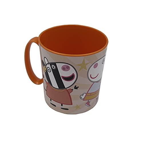 MAXIMN Taza para niños, niñas, Taza Micro 350ML, con diseño de Personajes Favoritos de los peques. Pepa Pig
