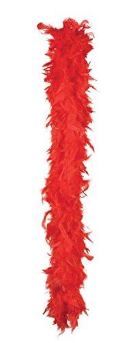 Boland - Boa de pluma para disfraz, 180 cm, color rojo (52700)