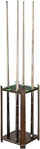 WANQPPS0826 Billard Queueständer,Vintage Boden Holz Pool Queue Ständer für 8 Queues, freistehender Billard Queue Halter Billardwerkzeugen