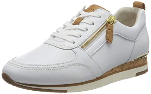 Gabor Shoes Damen Jollys Sneaker, Weiß (Weiss/Cognac 21), 37.5 EU