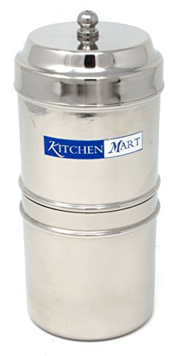 Kitchen Mart Stainless Steel South Indian Filter Coffee Drip Maker, 2 Cup