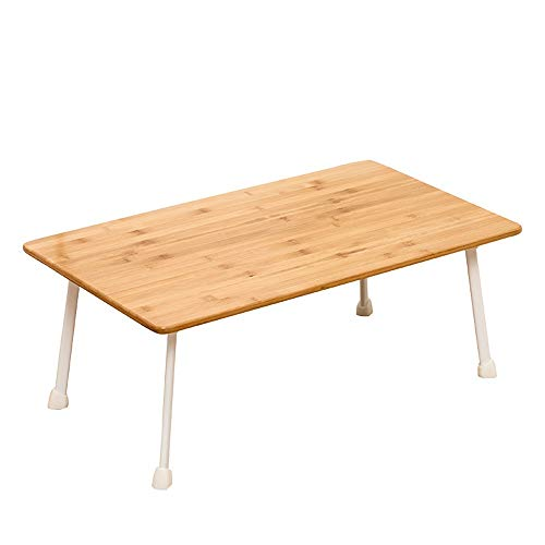 Foldable Lap Tablet Table Bamboo Notebook Table Dorm Desk Portable Laptop Stand with Foldable Legs Suitable for Home and School Foldable Multi-function Adjustable