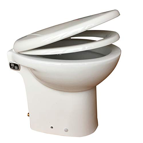 Macerating Toilet with Pump Built Into the Base, 600Watt 110V One Piece Toilet, Compact Toilet for Small Room