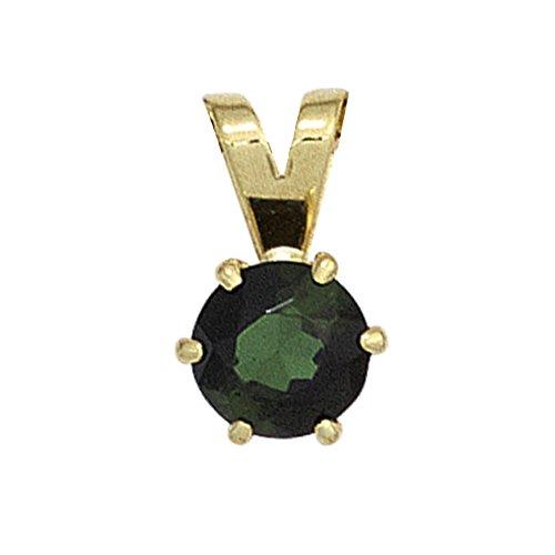 JOBO Damen-Anhänger aus 585 Gold mit grünem Turmalin
