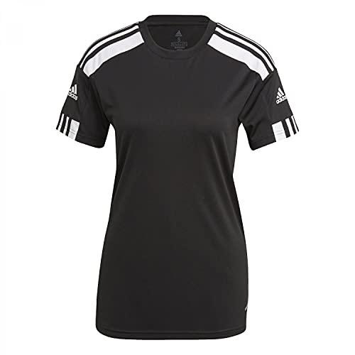 adidas Squad 21 JSY W Maglietta da Donna, Donna, 1 Camicetta, GN5757, Nero/Bianco, L