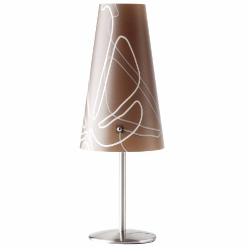 Brilliant Isi tafellamp, 1 x E14 max. 40 W, metaal/kunststof, donkerbruin 02747/23
