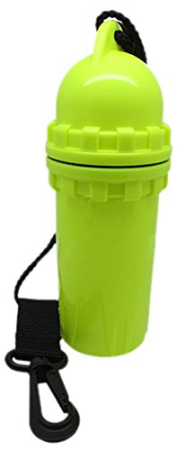 Scuba Choice Scuba Diving Snorkeling Waterproof Cylindrical Dry Box with Clip, Yellow