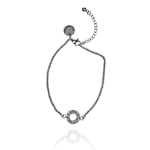 Lilja & Lykke armband volle maan, damesarmband, roestvrij stalen armband, armbanden voor vrouwen, zilveren sieraden, roestvrij stalen sieraden, zilveren armband